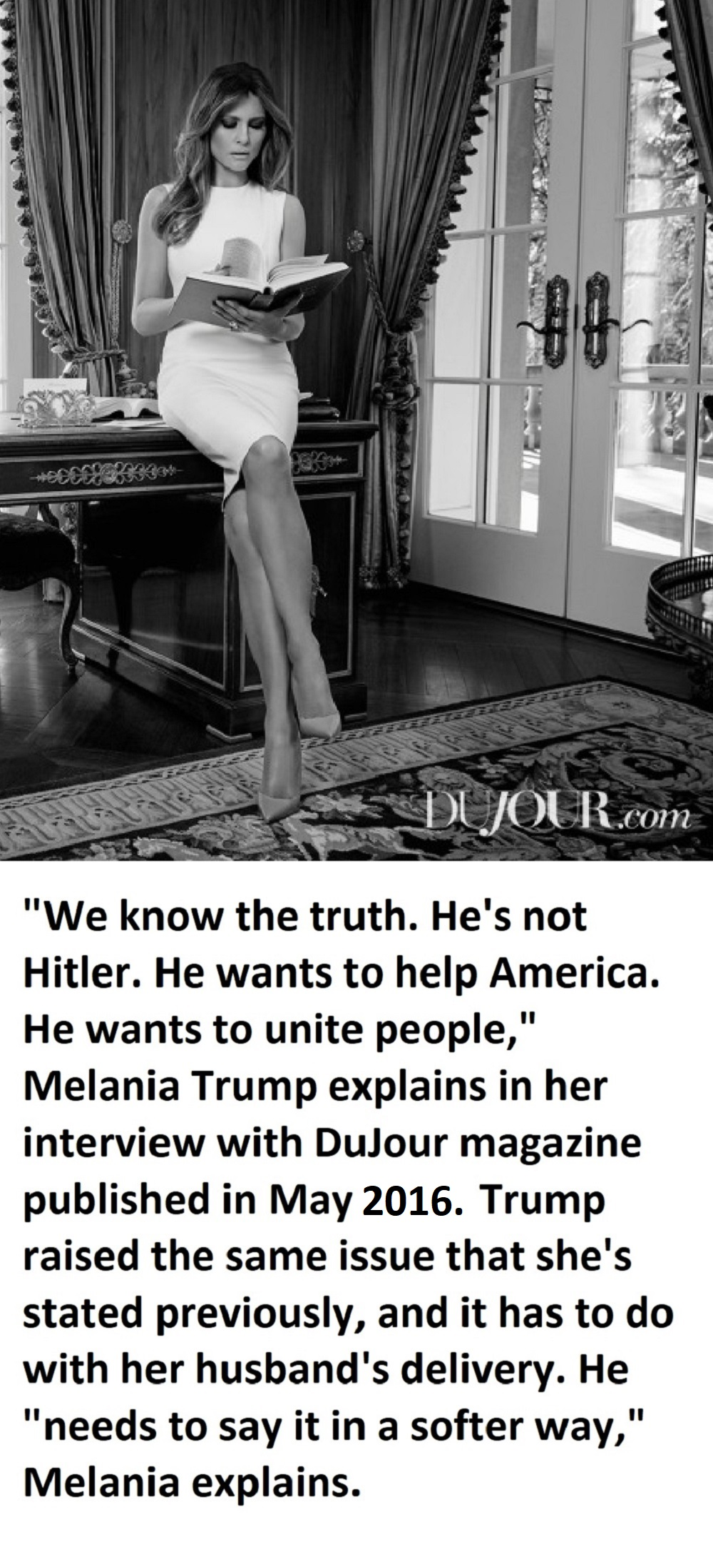 Melania Trump says Donald Trump is not Hitler text.jpg