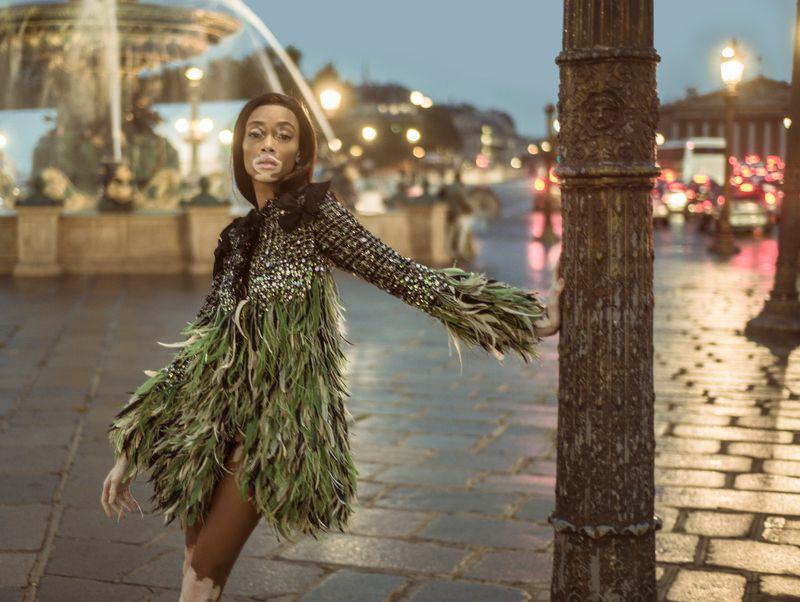 Winnie Harlow Wears Parisian Elegance Lensed By Jacques Burga For Harper's Bazaar Mexico November 2018