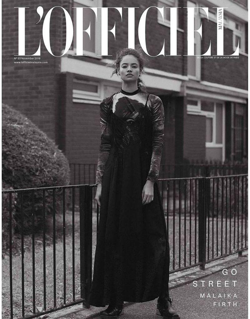 Malaika Firth by Onin Lorente for L'Officiel Malaysia Nov 2018 Cover.jpg