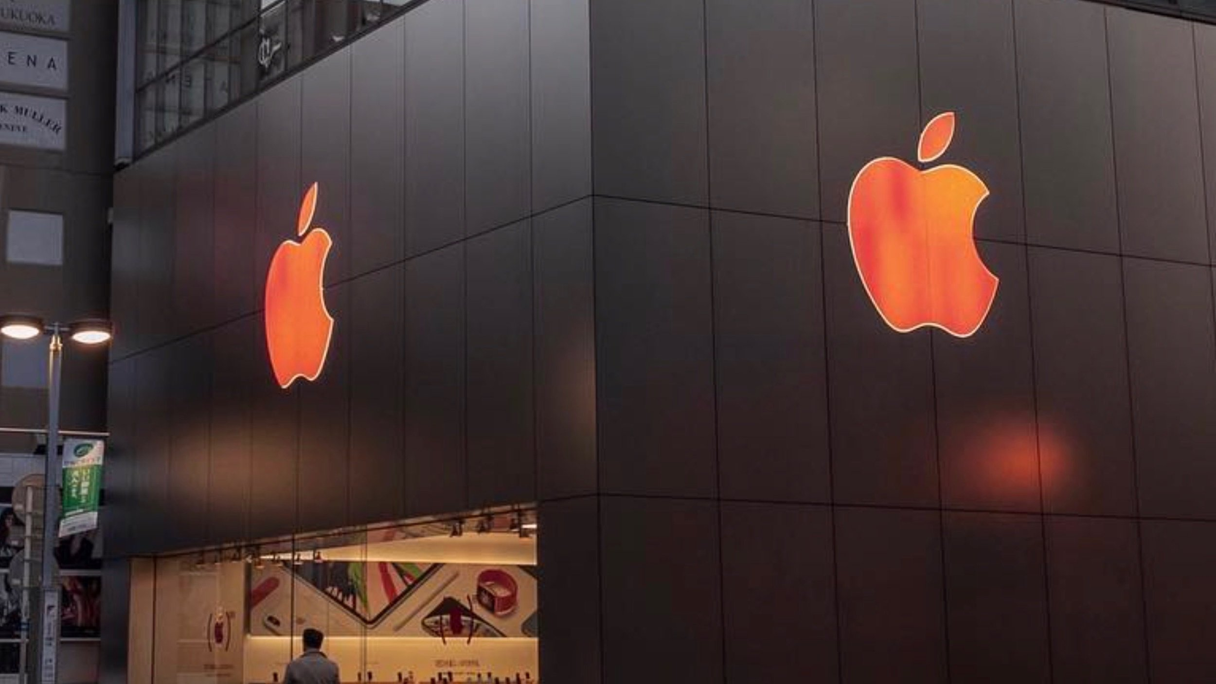 APPLE STORE LOGOS GO RED FOR WORLD AIDS DAY AS APPLE PROMOTES (RED) W/ APP STORE STORIES