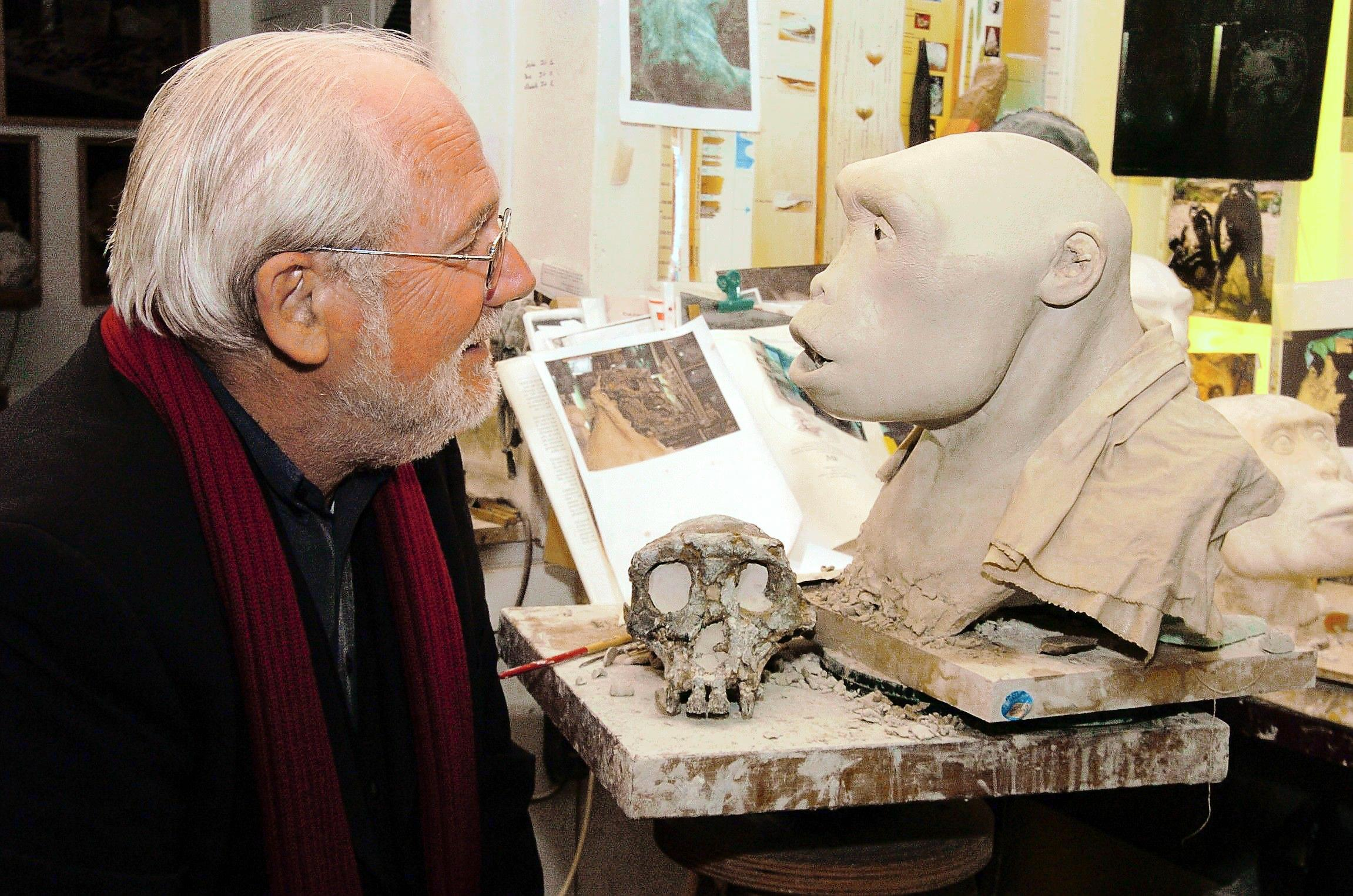 Paleontologist Michel Brunet, who discovered the Toumaï skull in the Chadian desert.  (MPFT photo )