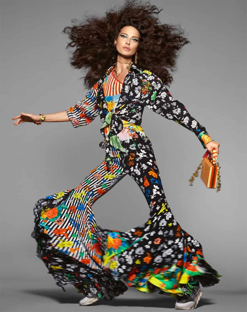 Shaalom Harlow by Steven Meisel for Versace Spring 2019 Campaign
