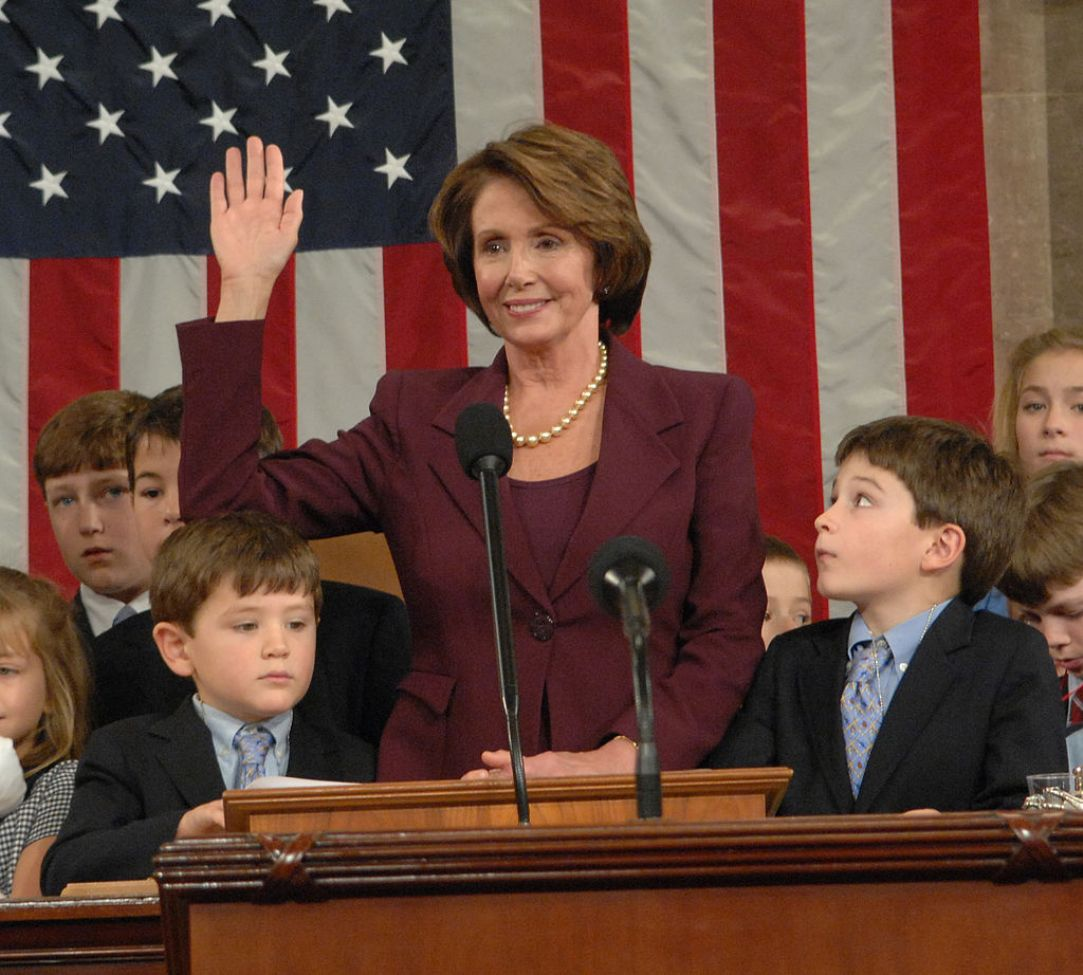 Nancy :Pelosi becoming Speaker of the House in 2007