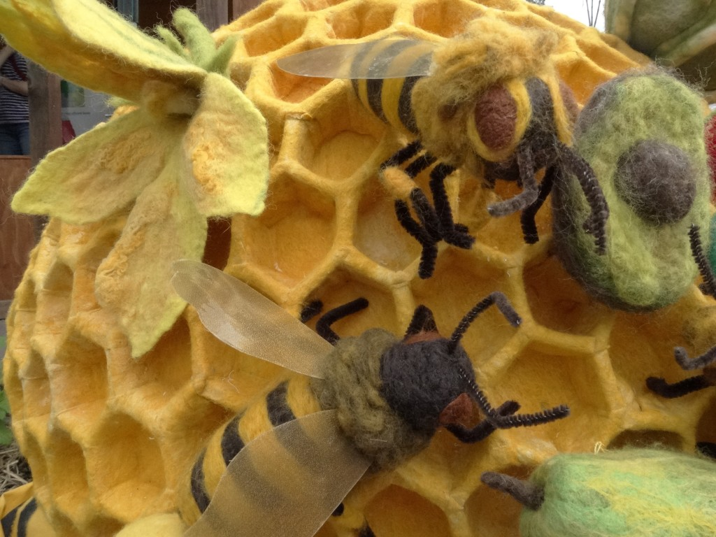 A Community Arts Project initiated by Julie Armstrong to raise awareness of the importance of bees for pollination for a whopping 2/3 of our food production.  Act for Bees