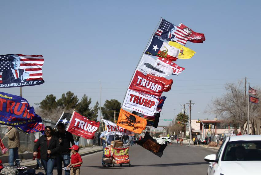 Trump supporters gathered Monday in El Paso for President Donald Trump's rally. Image: Jesus Rosales for The Texas Tribune