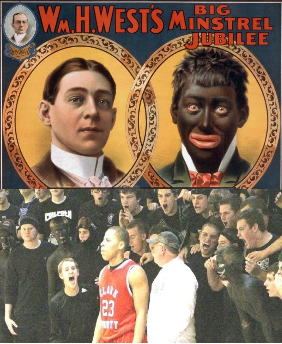 Covington Catholic High School Students carry on blackface tradition at 2012 basketball game.