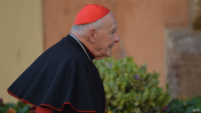 """Theodore McCarrick, previously the Archbishop of Washington, DC and Newark and a high-ranking Cardinal was defrocked last week and sent to live out his days in """"prayer and penance'"""" over sex abuse claims against him."""