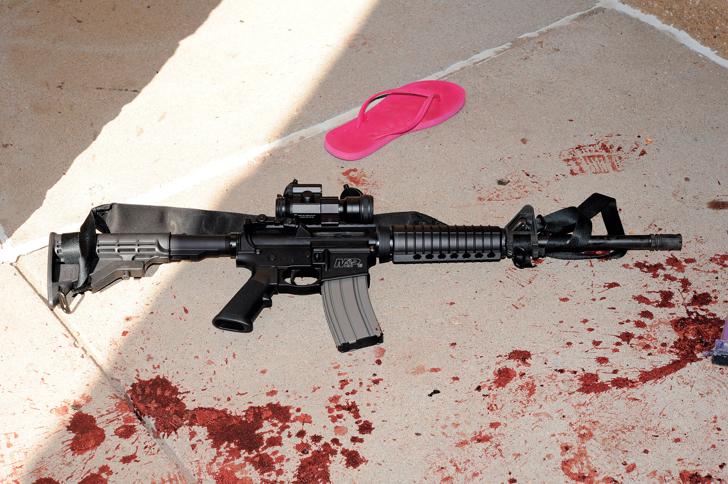 "The AR-15 assault rifle was engineered to create what one of its designers called ""maximum wound effect."" Its tiny bullets – needle-nosed and weighing less than four grams – travel nearly three times the speed of sound. As the bullet strikes the body, the payload of kinetic energy rips open a cavity inside the flesh – essentially inert space – which collapses back on itself, destroying inelastic tissue, including nerves, blood vessels and vital organs. ""It's a perfect killing machine,"" says Dr. Peter Rhee, a leading trauma surgeon and retired captain with 24 years of active-duty service in the Navy.   via Rolling Stone"