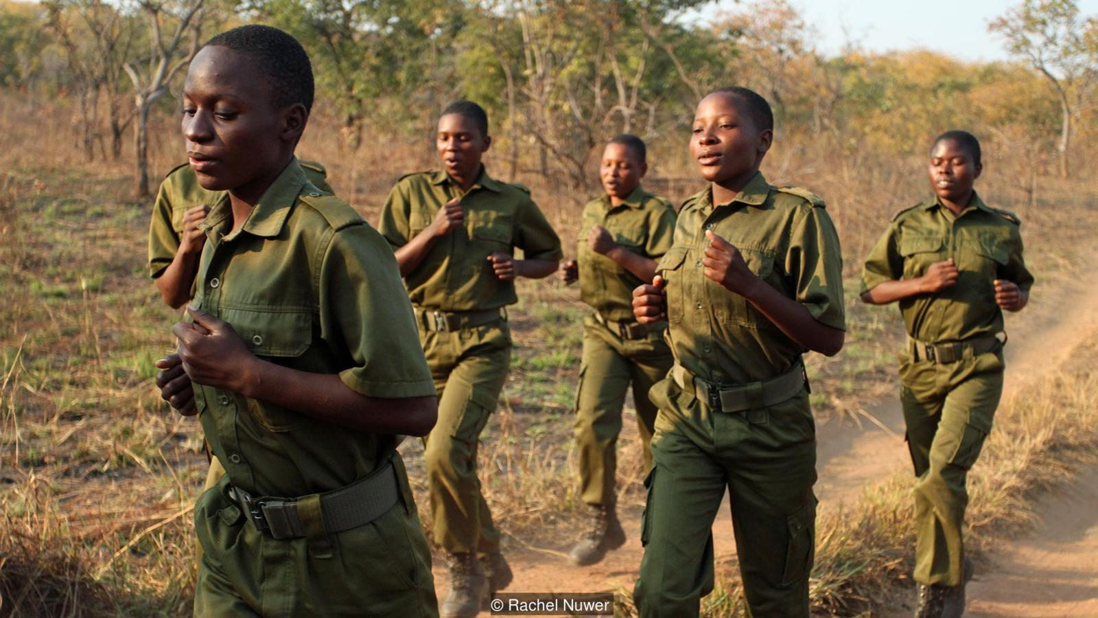 These Zimbabwe women rangers chose the name 'Akashinga', which means 'the Brave Ones' in Shona. As far as Australian Damien Mander knows, Phundundu is the first nature reserve in the world to be managed and protected by an all-women ranger unit that he recruited and trained. (Credit: Rachel Nuwer)