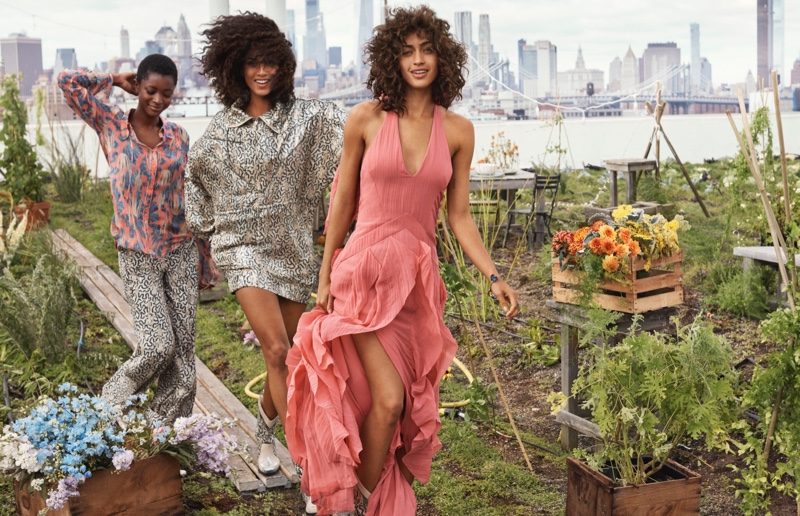 Oumie Jammeh, Alanna Arrington and Imaan Hammam star in H&M Conscious Exclusive 2019 campaign.