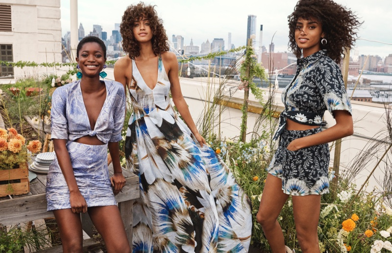 Oumie Jammeh, Alanna Arrington and Imaan Hammam encourage us to embrace a sustainable future, buying into the H&M Conscious Exclusive 2019 campaign.
