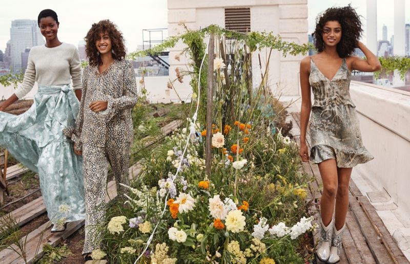 Petrol never looked so inviting, as in eco-friendly, sustainable petrol blue and other silvery shades from the H&M Conscious Exclusive 2019 Campaign.