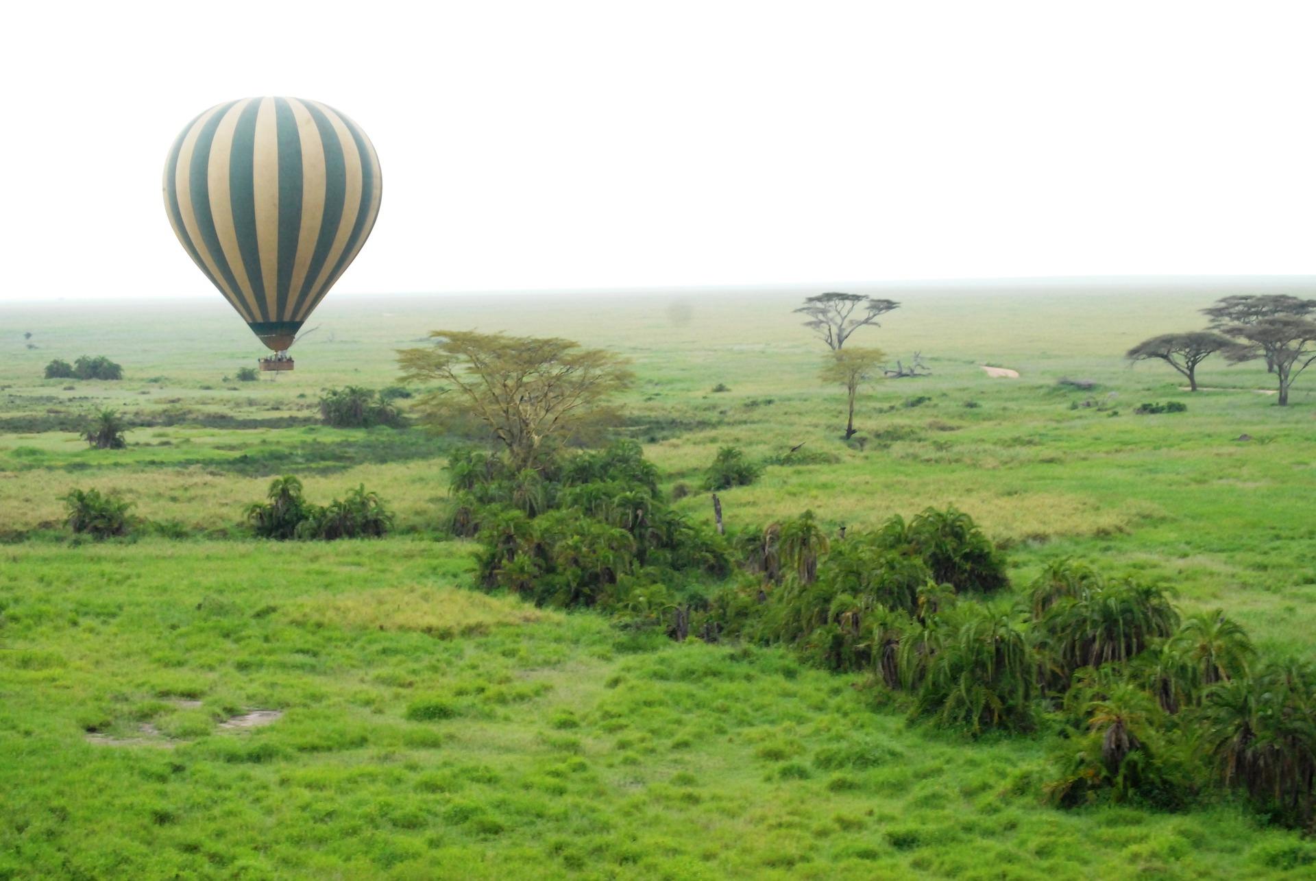 Ballooning in the Serengeti.  Image via