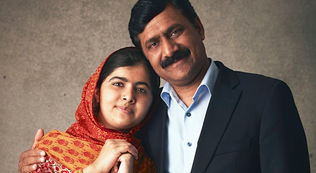 Malala Yousafzai and her father Ziauddin Yousafzai  via National Geographic Australia