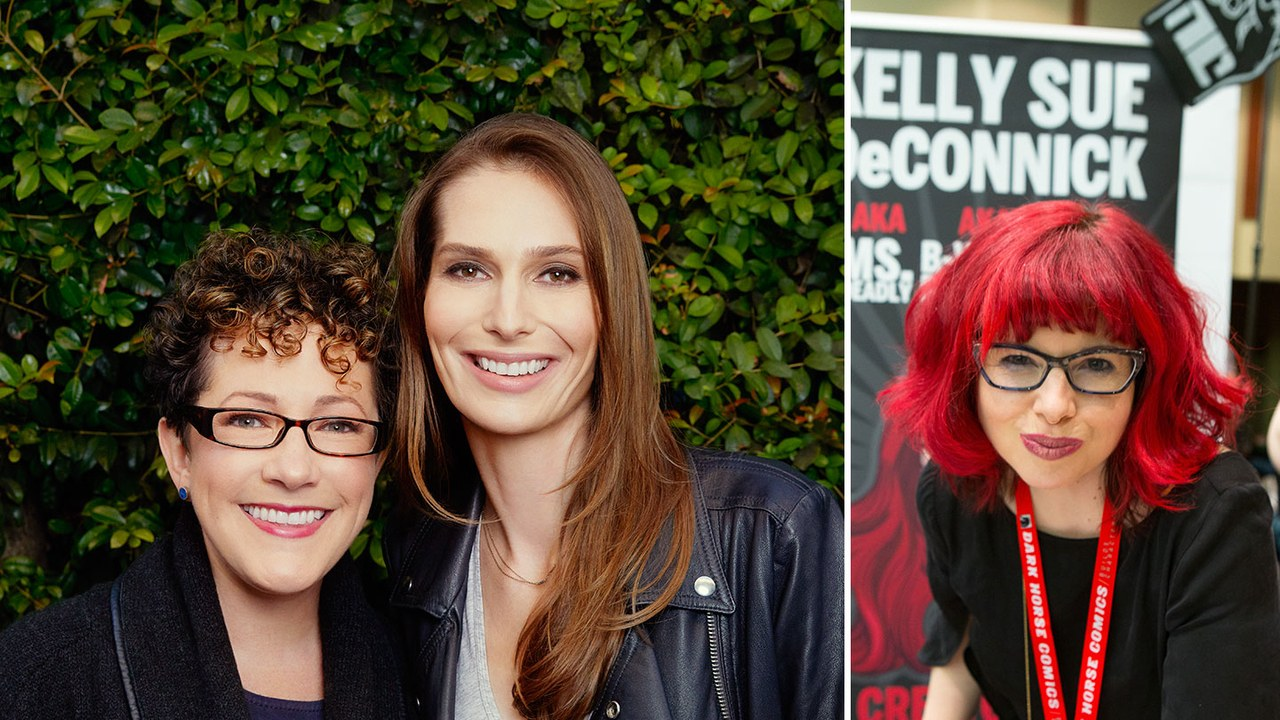 Captain Marvel  screenwriters Nicole Perlman and Geneva Robertson-Dworet;  Captain Marvel  comic writer Kelly Sue DeConnick.