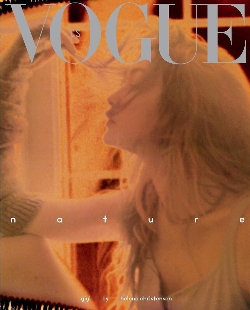 Gigi Hadid by Helena Christensen covers Vogue Czechoslovakia May 2019