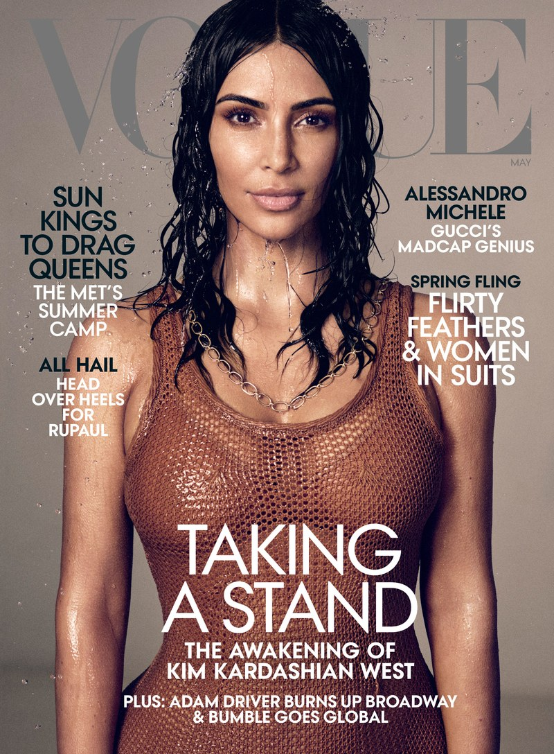 Kim Kardashian West by Mikael Jansson for Vogue US May 2019