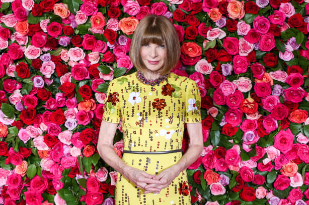 Anna Wintour attends the 72nd annual Tony Awards in New York City in June 2018  Image by Walter McBride  via CNN