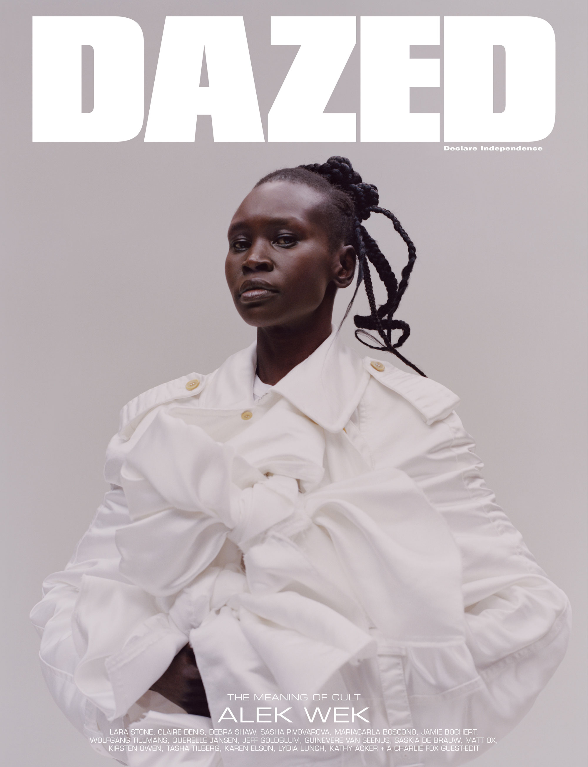 Alek Wek by Tyler Mitchell for Dazed Magazine's SS2019 'The Meaning of Cult' issue.