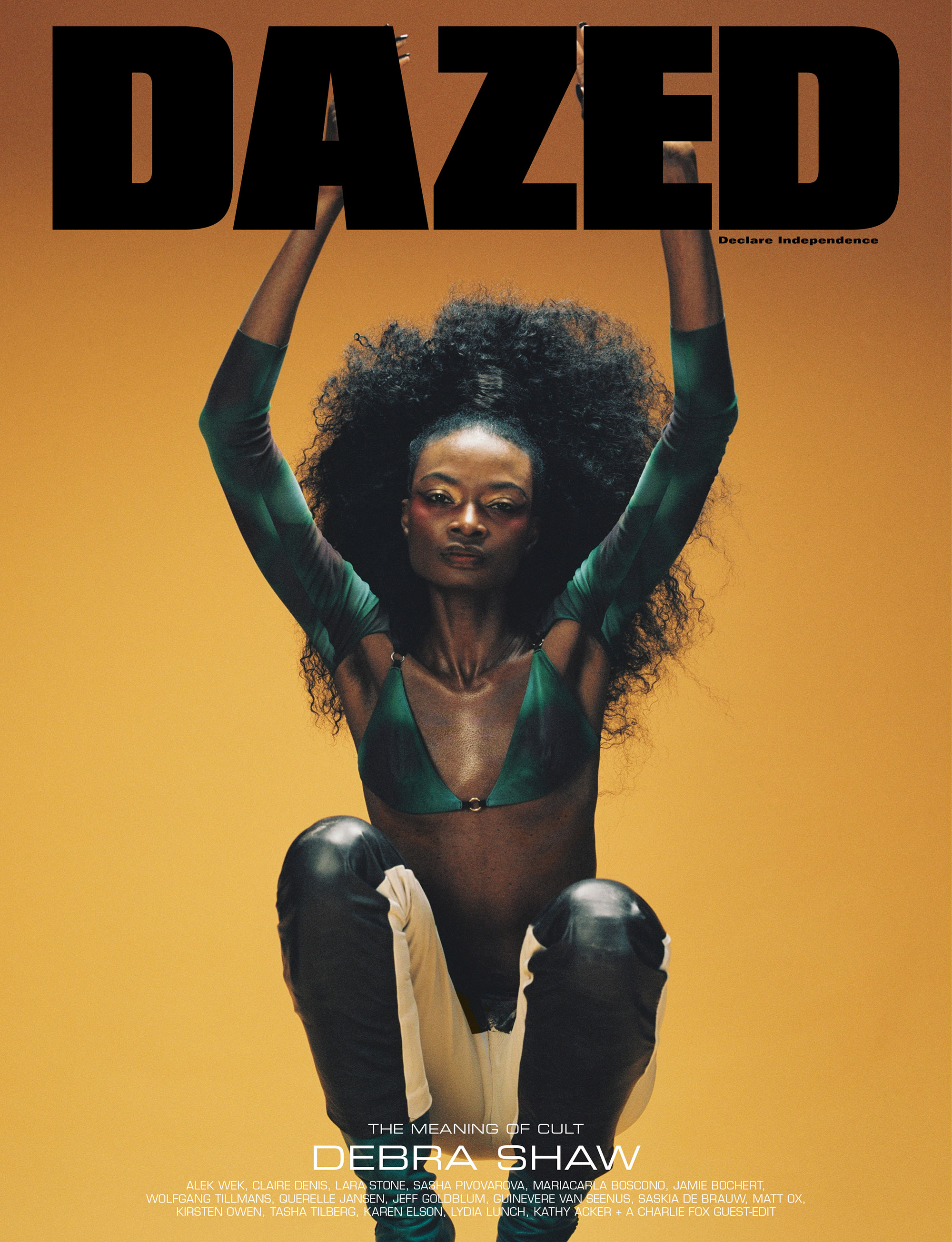 Debra Shaw by Campbell Addy for Dazed Magazine's SS2019 'The Meaning of Cult' issue.
