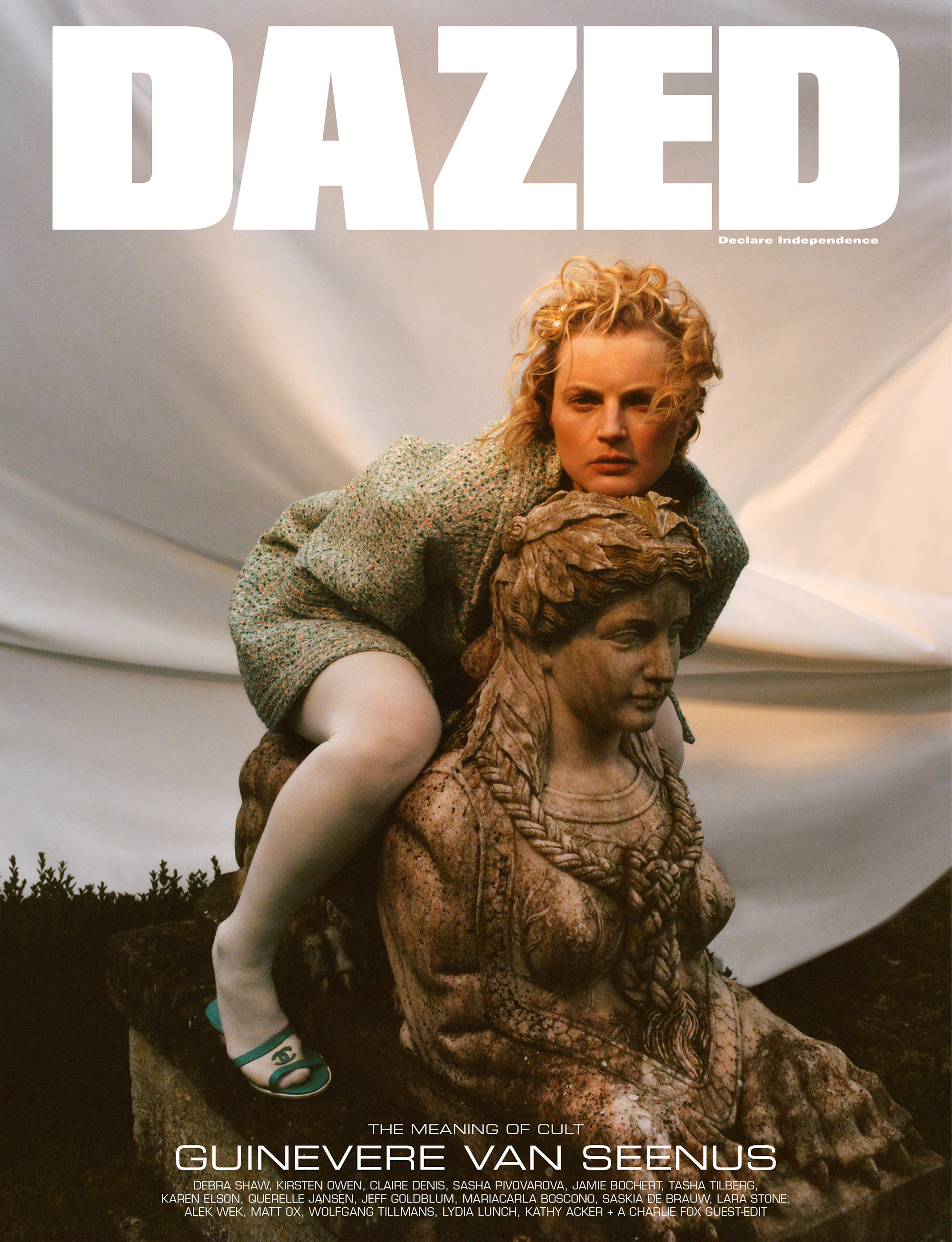 Guinevere Van Seenus by Tom Johnson for Dazed Magazine's SS2019 'The Meaning of Cult' issue.