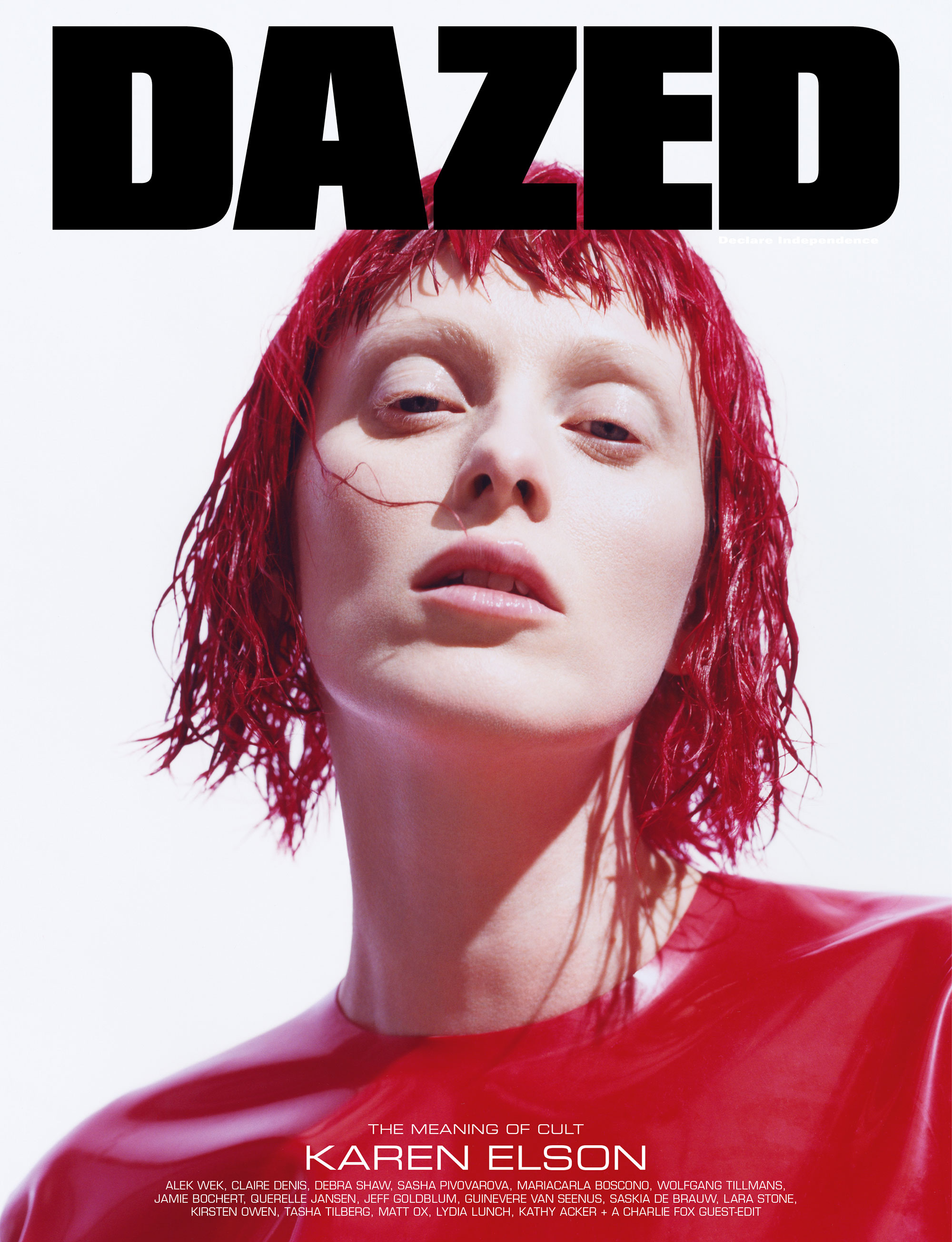 Karen Elson by Lea Colombo for Dazed Magazine's SS2019 'The Meaning of Cult' issue.