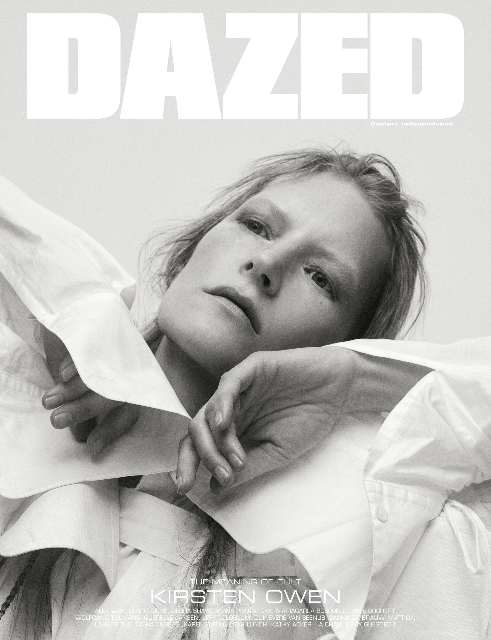 Kristen Owen by Casper Sejersen for Dazed Magazine's SS2019 'The Meaning of Cult' issue digital