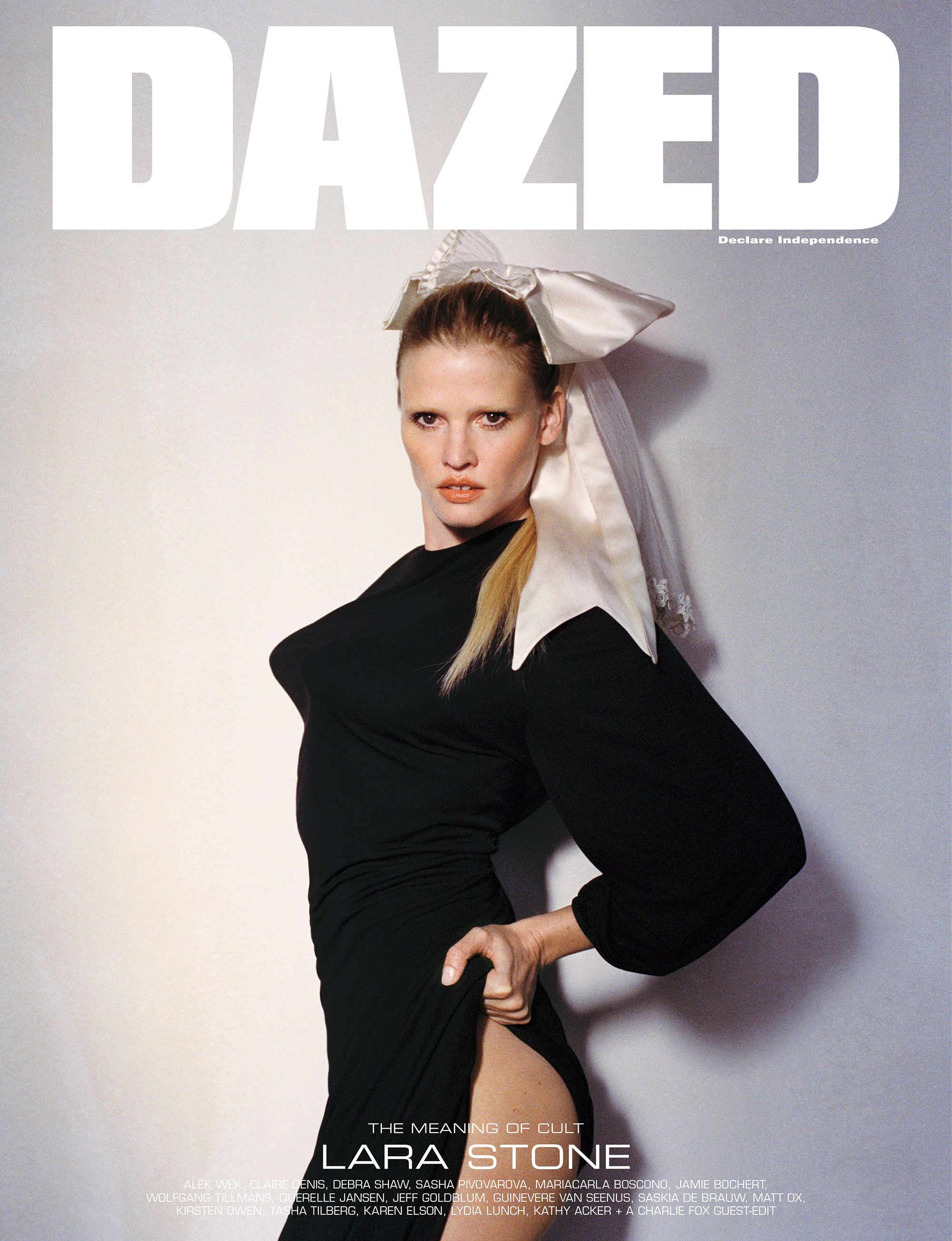 Lara Stone by Brianna Capozzi for Dazed Magazine's SS2019 'The Meaning of Cult' issue.