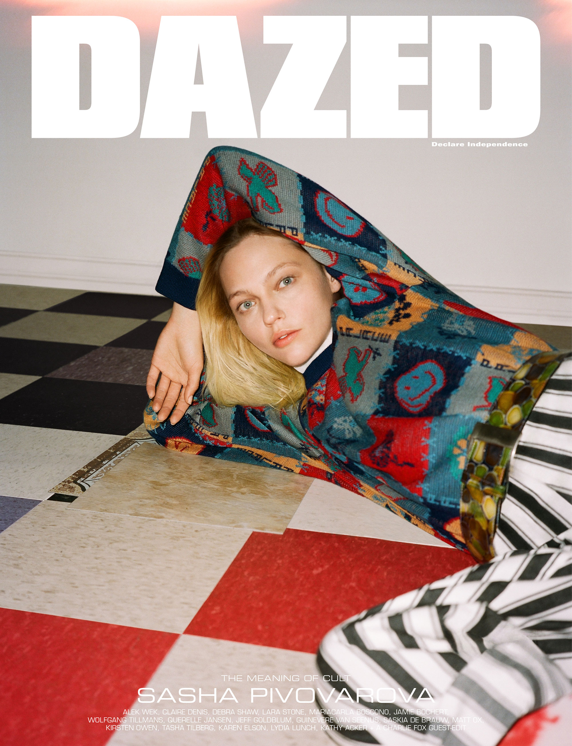 Sasha Pivovarova by Ben Toms for Dazed Magazine's SS2019 'The Meaning of Cult' issue print and digital.