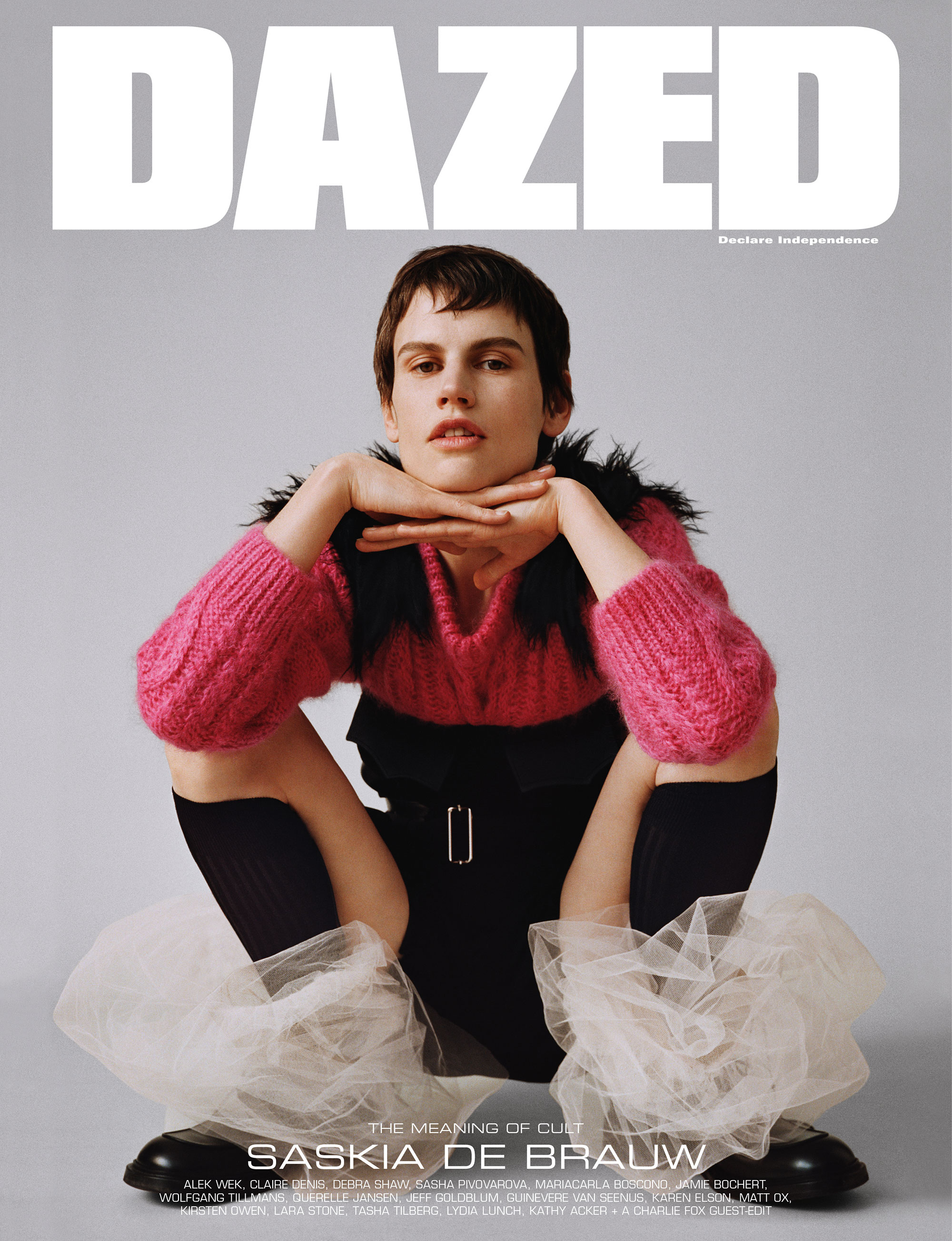 Saskia de Brauw by Angelo Pennetta for Dazed Magazine's SS2019 'The Meaning of Cult' issue.