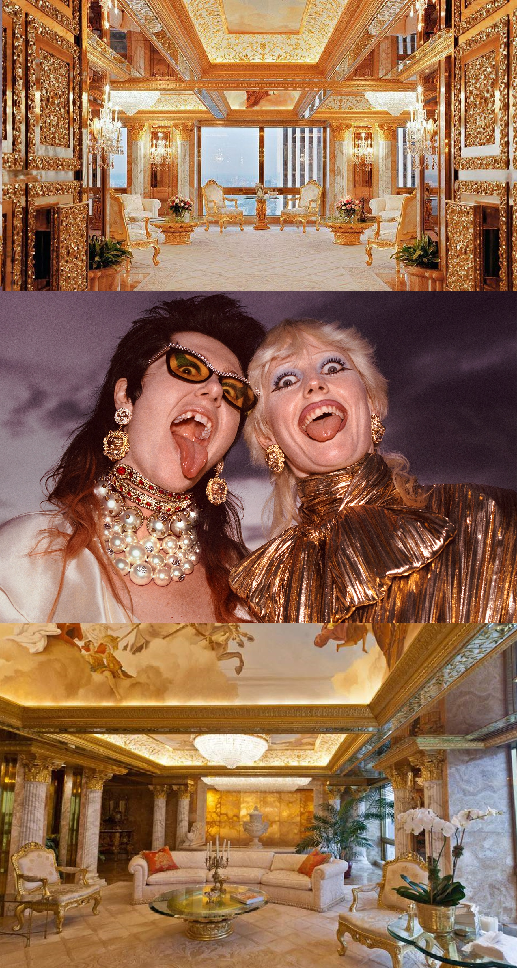 Donald Trump's lying nature defines his design tastes, called 'Dictator Chic' wrote Peter York. Alessandro Michele, Gucci's creative director, and Andrew Bolton of the Met's Costume Exhibit launch a new exhibit at the May 6 Met Gala devoted to 'camp' and its place in fashion, design, culture and even politics.