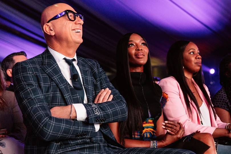Naomi Campbell and Marco Bizzarri at the Condé Nast Luxury conference in Cape Town.  Via British Vogue.
