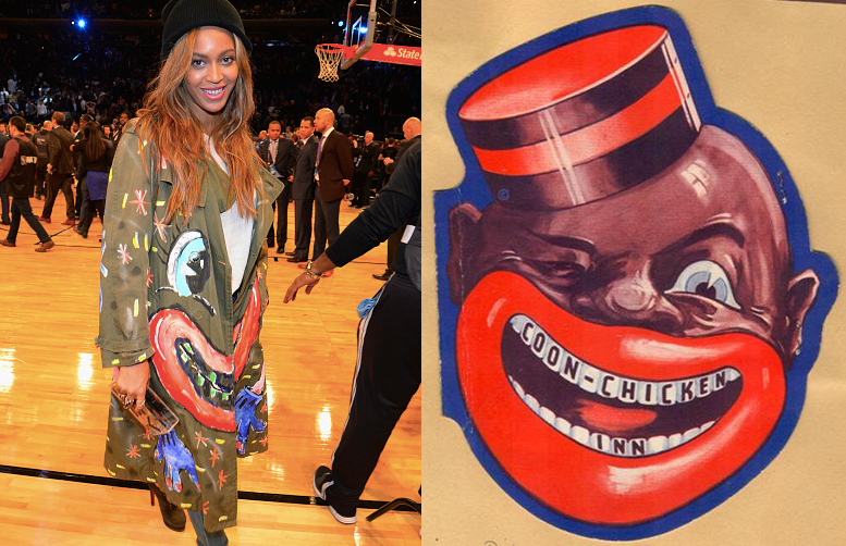 During All-Star Weekend in 2015, Beyoncé was spotted donning a Scooter LaForge trench coat, evoking some raised eyebrows.