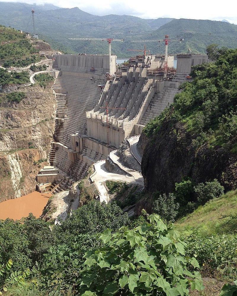 Omo River, Gibe III Dam in Wolayita, Ethiopia  By Mimi Abebayehu  - Own work, CC BY-SA 4.0,
