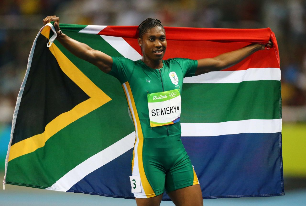 Caster Semenya winning Olympic gold in Rio.