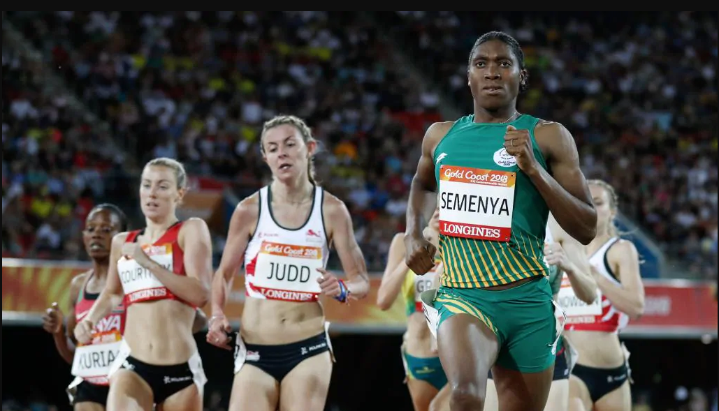 Caster Semenya eases through 1500 metres heat as uncertain future remains.  Gold Coast Bulletin Australia  April 2018. AFP/Adrian Dennis