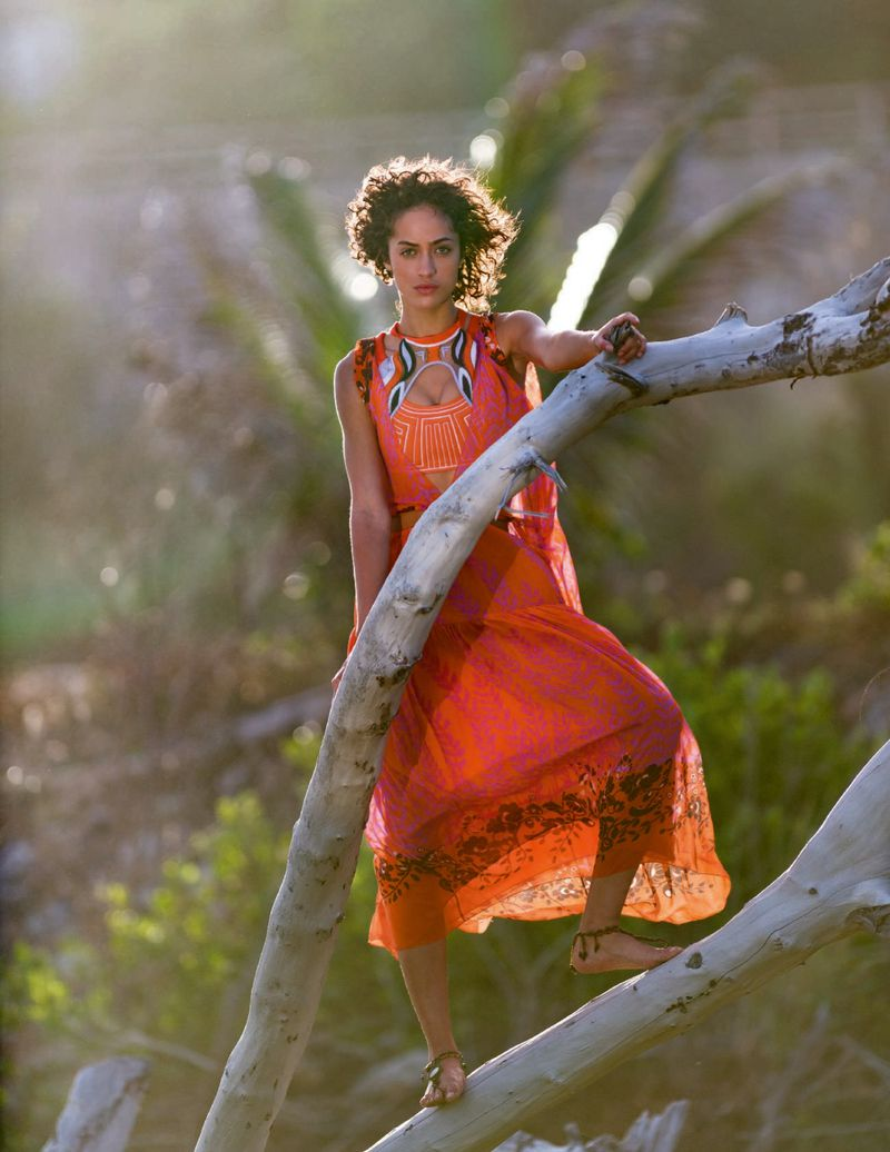 Gilles Bensimon Flashes Alanna Arrington In Summer Boho Looks For ELLE Italia April 2019