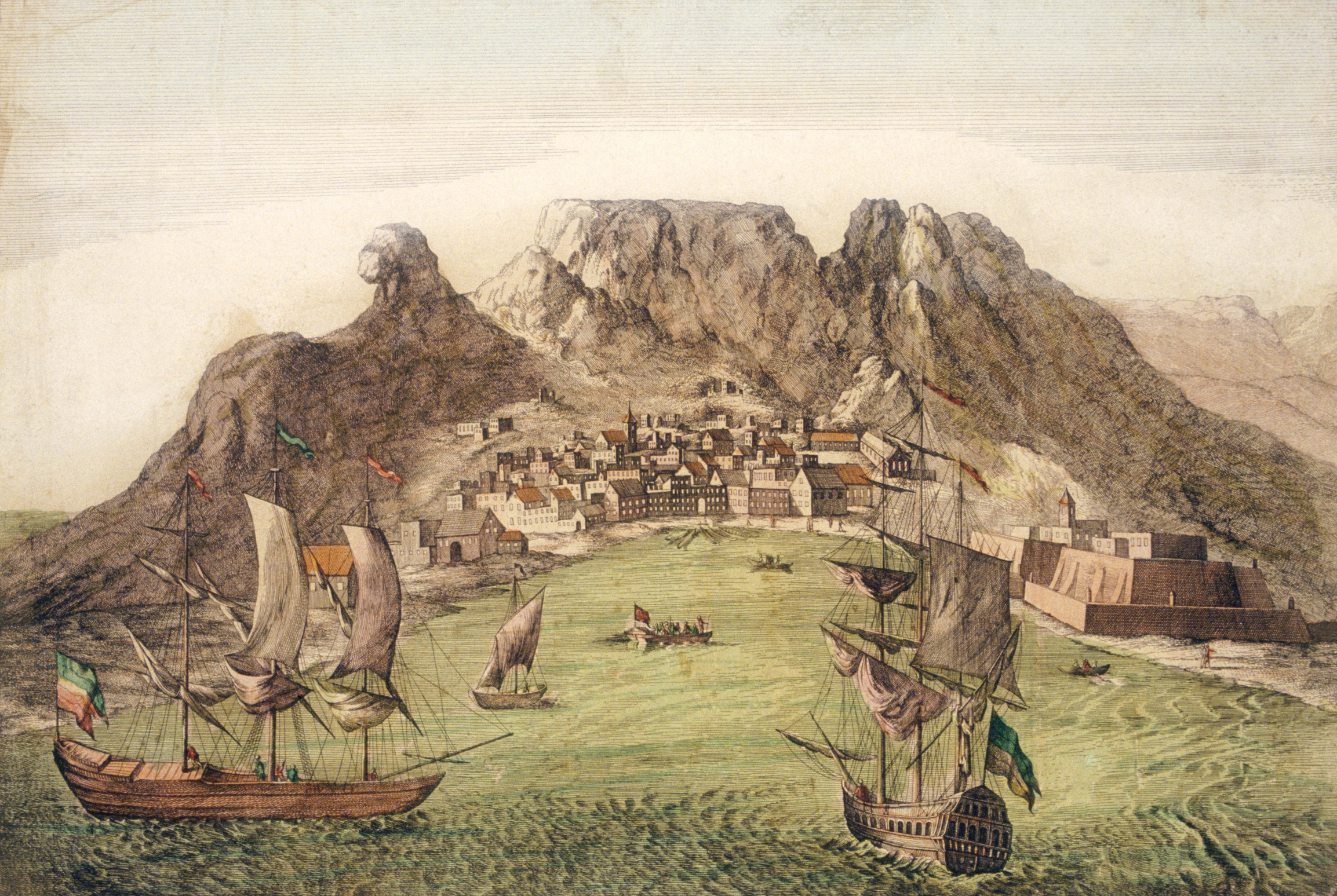 Table Bay by Aernout Smit (1683) within the William Fehr Collection, Iziko Museums of South Africa Social History Collections.