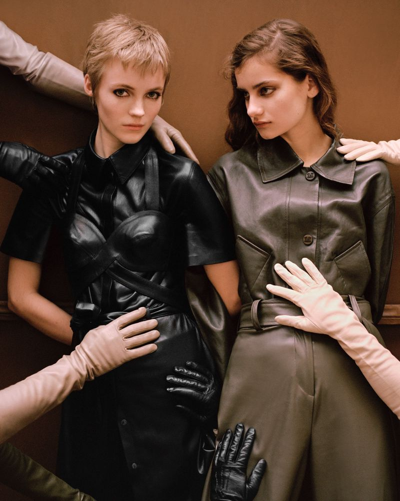 Alina Bolotina + Lucan Gillespie Pose For In Luxe Leathers By Oli Kearon For Vogue Portugal May 2019