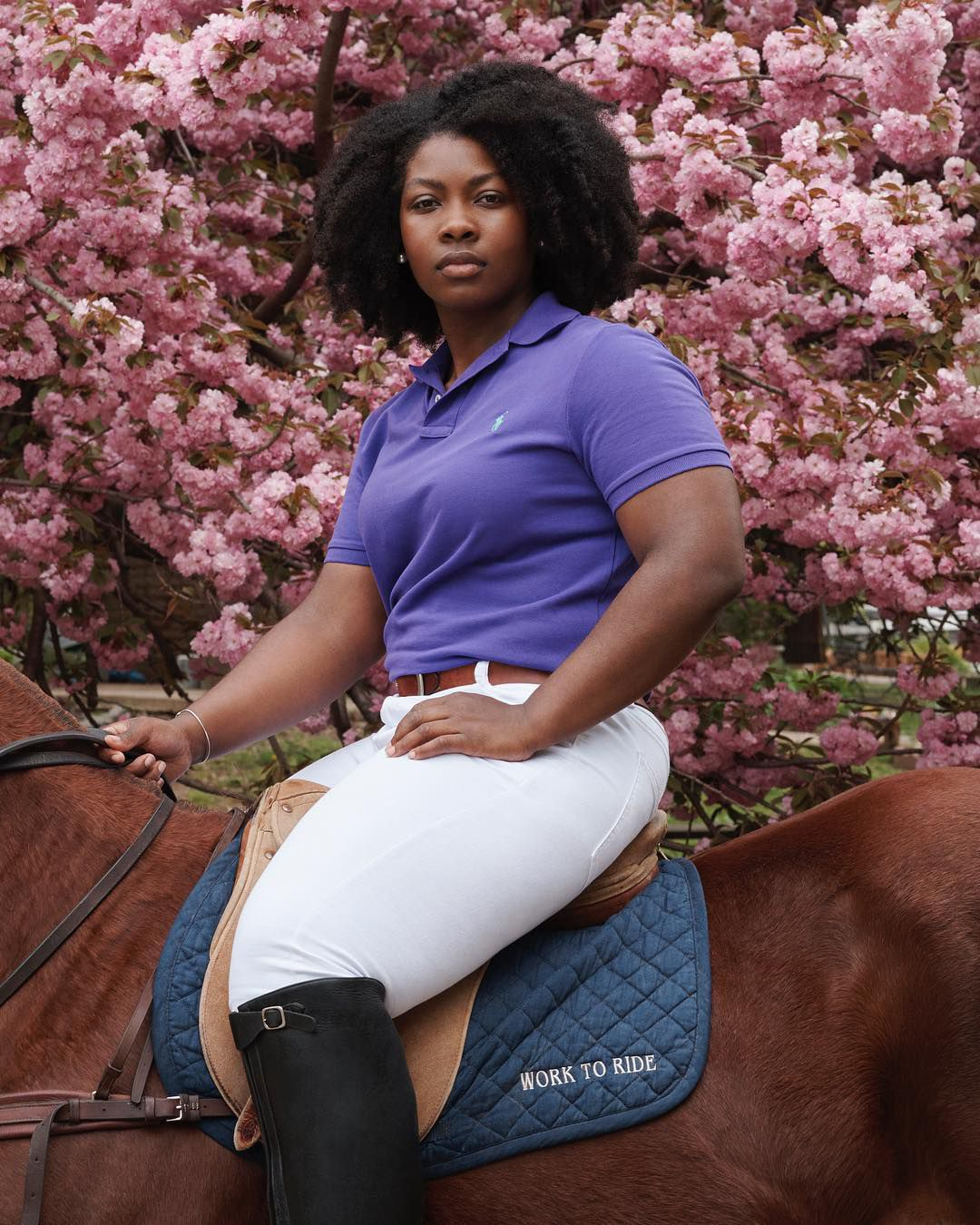 Shariah Harris by Sharif Hamza for Ralph Lauren Polo, Work to Ride West Philadelphia.