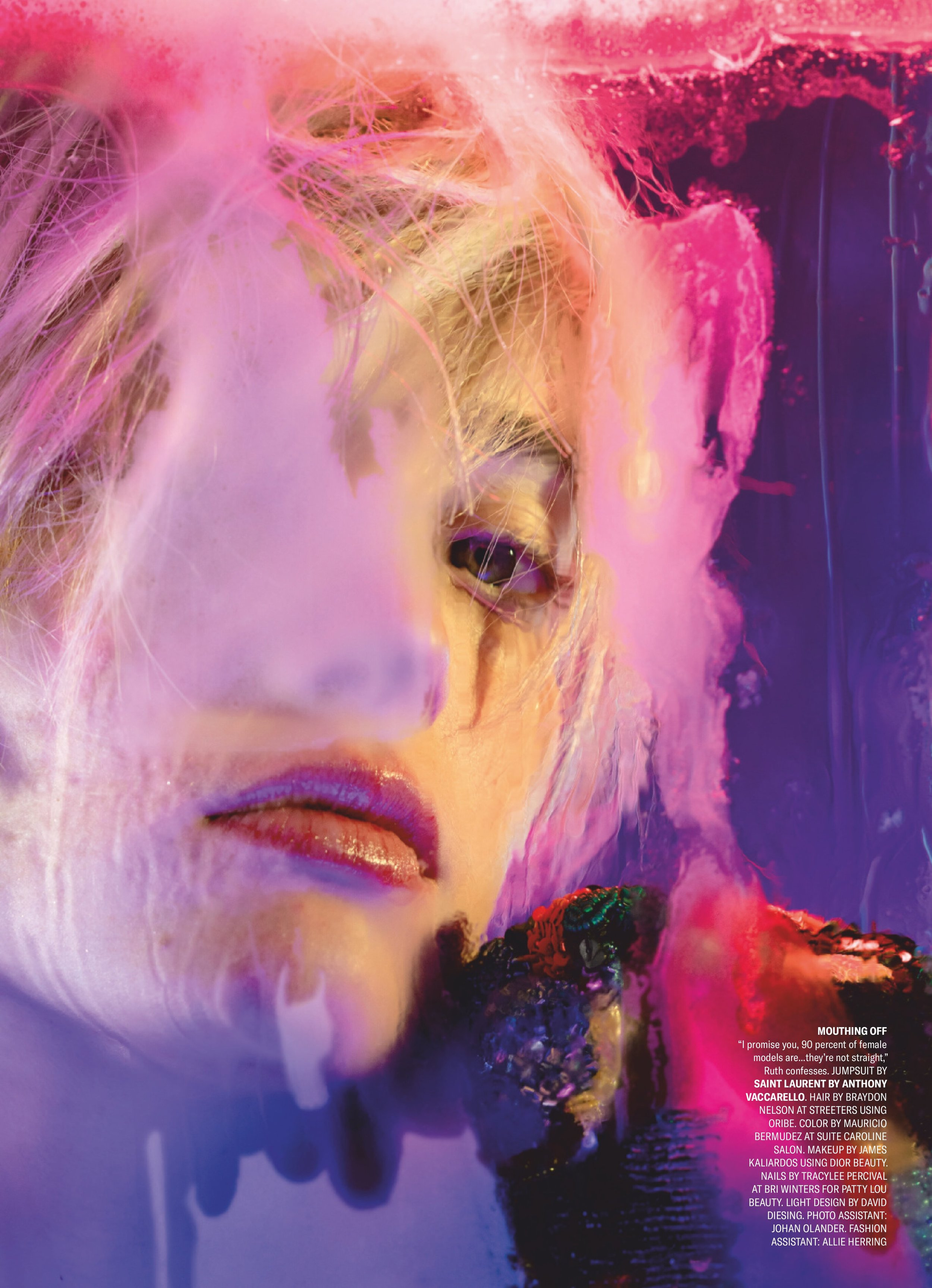 Ruth Bell Is Lensed By Marilyn Minter In 'Hear the Bell' For Out Magazine May 2019