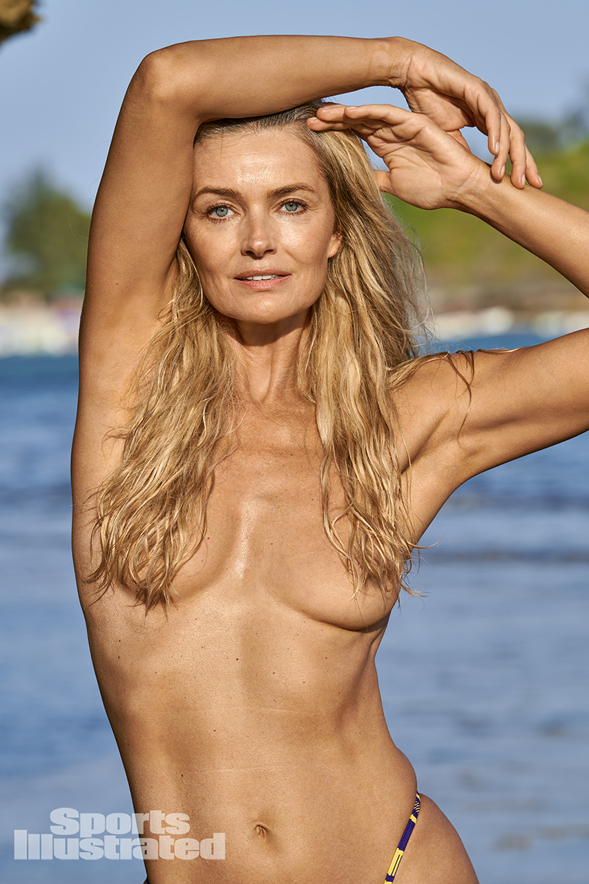 "Paulina Porizkova Accepts Being ""The Hot Old Lady"" Lensed By Yu Tsai in Kenya For SI Swimsuit 2019"