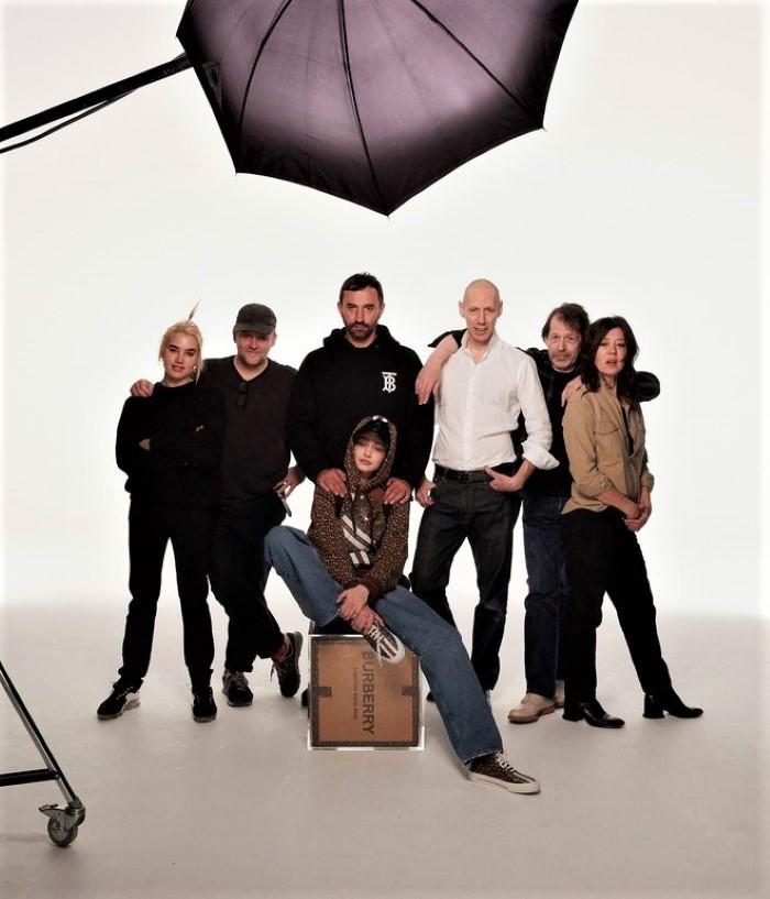 Gigi Hadid, Nick Knight, Ricardo Tisci and the Burberry Monogram campaign team.