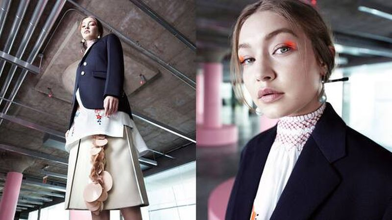 Gigi Hadid in Prada 365 Resort 2020 Special Project 'Seditious Simplicity'