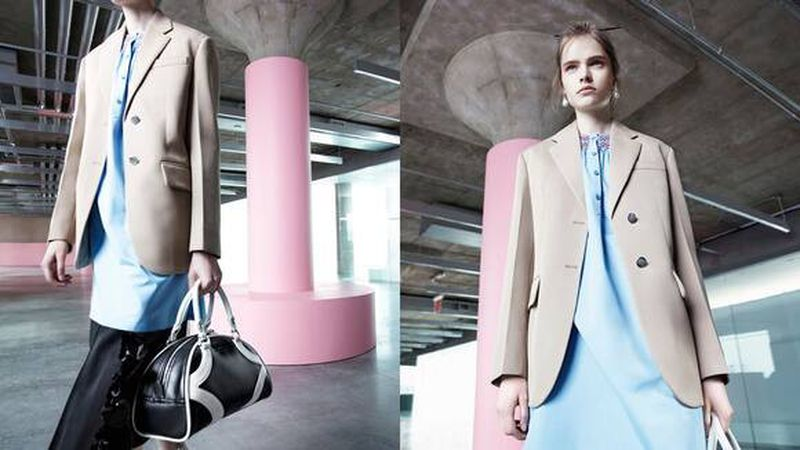 Maud Hoevelaken in Prada 365 Resort 2020 Special Project 'Seditious Simplicity'