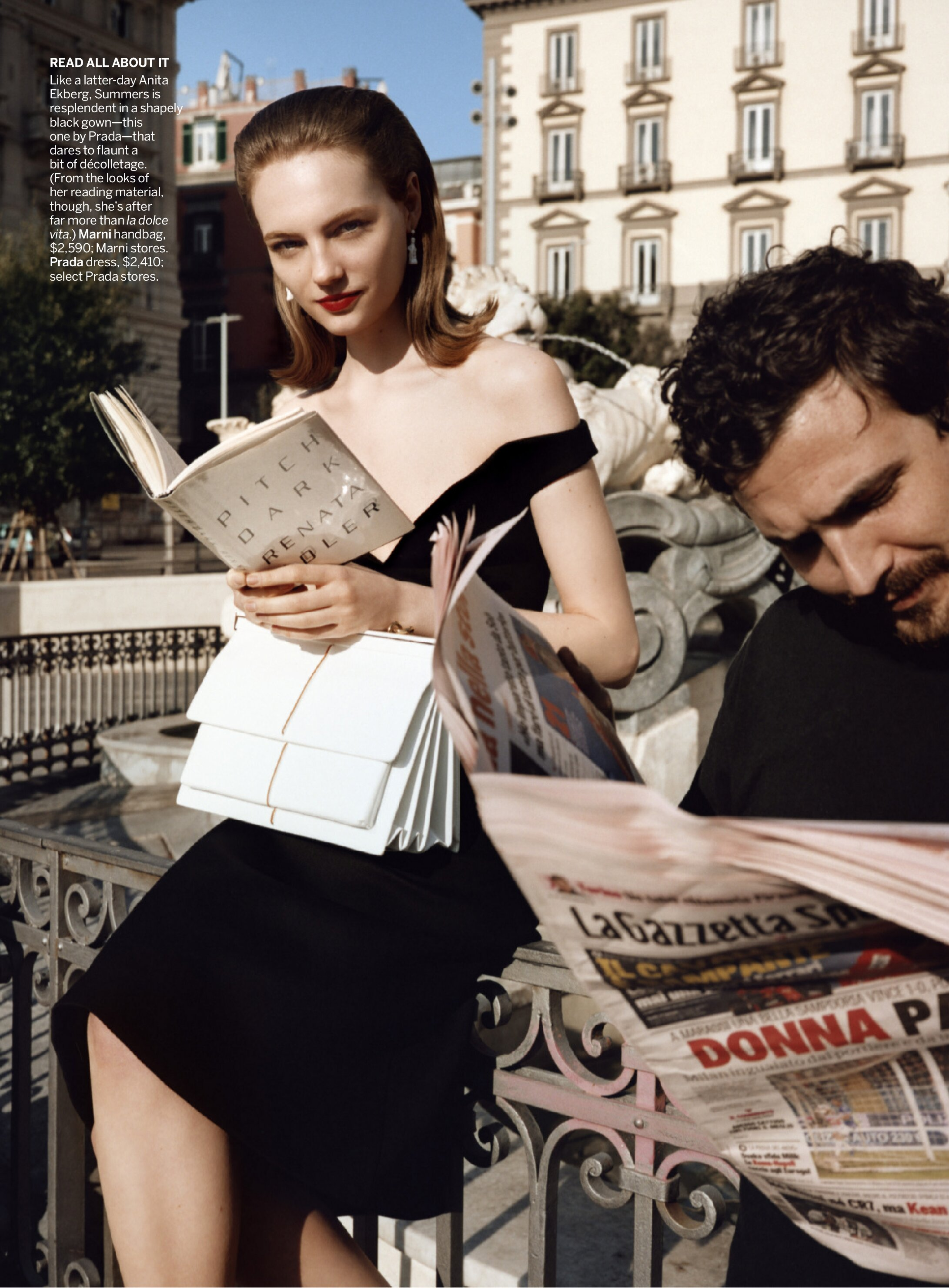 Fran Summers goes intellectual in little black dress for Vogue US June 2019
