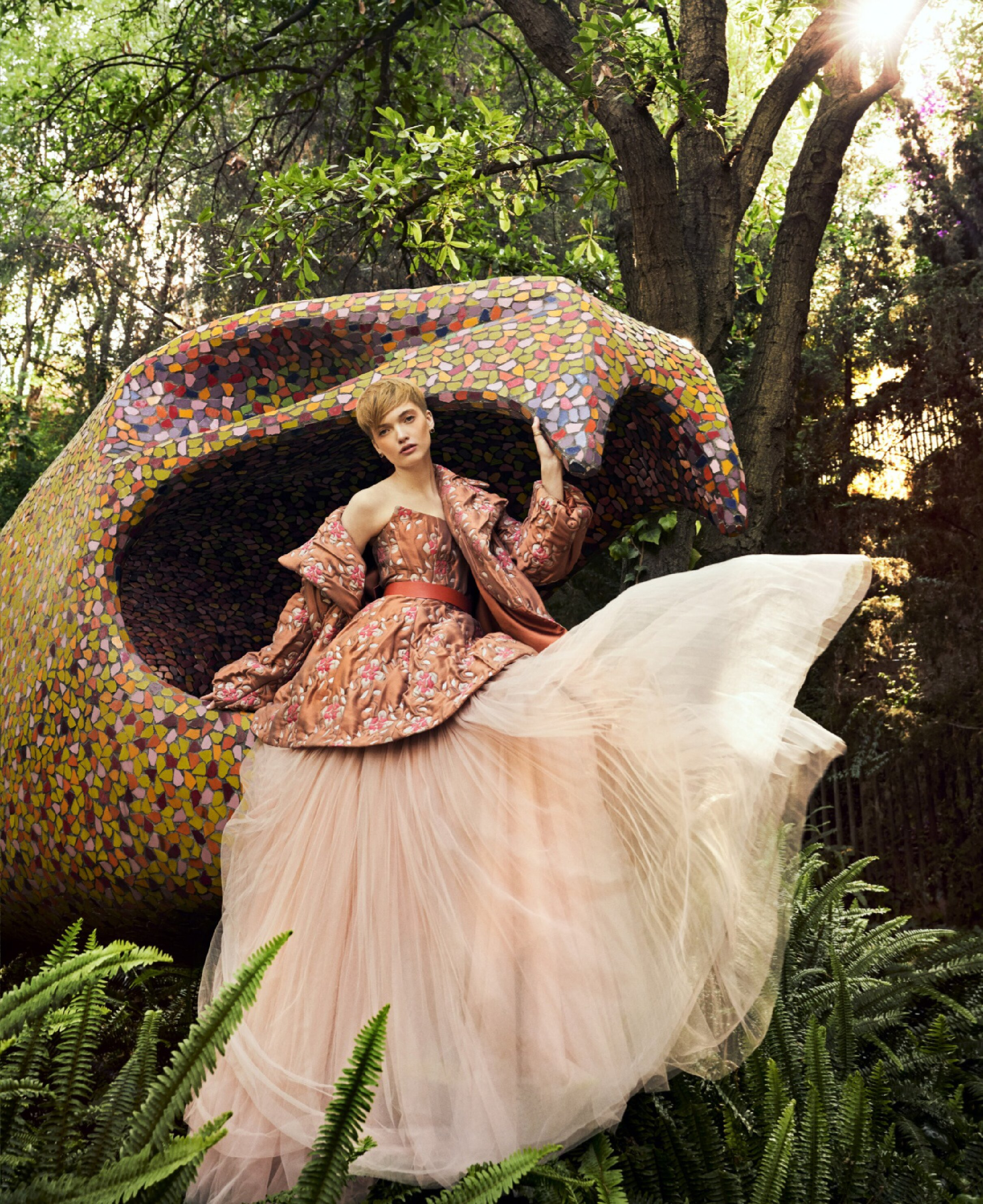 Ruth Bell Wears 'The New Florals' Lensed By Sebastian Kim For Harper's Bazaar US June-July