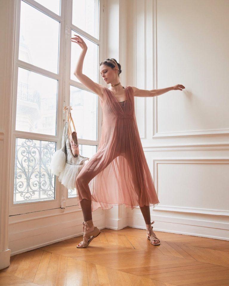 Coco Rocha Poses In Dior's Ballet-Inspired Elegance Lensed By Andreas Ortner For ELLE Czech