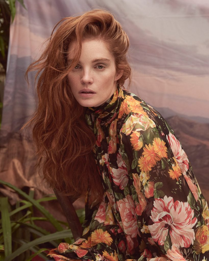 Alexina Graham Is Hothouse Flower In Andreas Ortner Images For Marie Claire Czech
