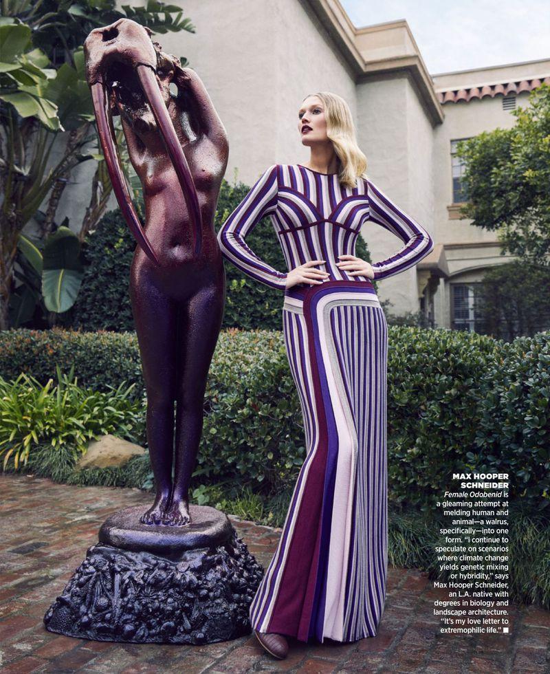 Zoey Grossman Captures Toni Garrn As Modern Muse At Frieze LA Lot For Harper's Bazaar US June 2019